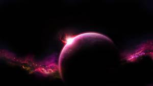 Pink space wallpaper