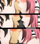 Sora no Otoshimono Ikaros and Tomoki kiss