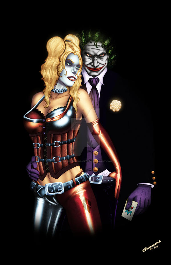Harley n Mr. J by ChrisSummersArts