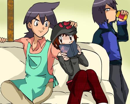 Reiji, Tsuki and Paul by hikariangelove