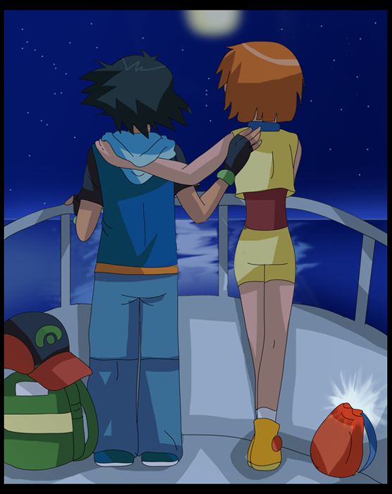 Pokemon Crisis Scene: Love is in the sea-air by hikariangelove