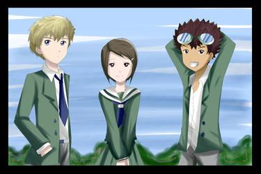 Digimon tri triangle by hikariangelove