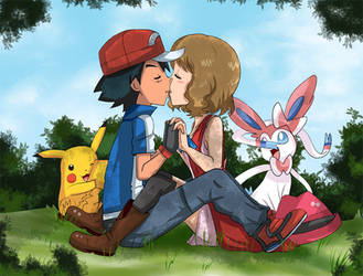 amourshipping ready to kiss by hikariangelove