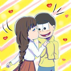 jyushimatsu girlfriend by hikariangelove