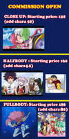 COMMISSION OPEN PRICE LIST *EDIT SOME PRICES* by hikariangelove