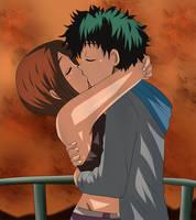 izuocha kiss sunset by hikariangelove