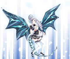 RWBY Yugioh Blue-Eyes Dragonmaid Weiss