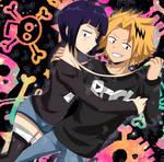 Kyoka with Kaminari