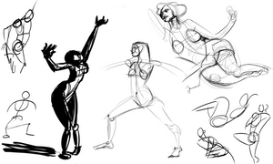 Pixelovely Warmup 2-13-13 by wadedraws