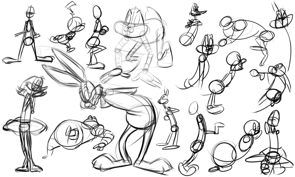 Warmup Toons 07-01-14 by wadedraws