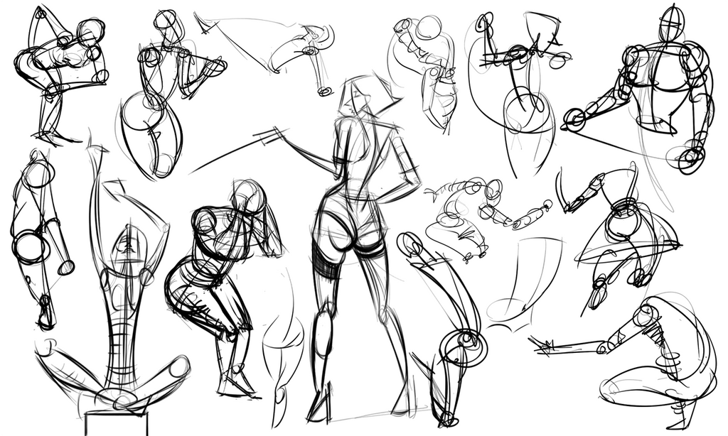 Warmups 10-01-14 by wadedraws