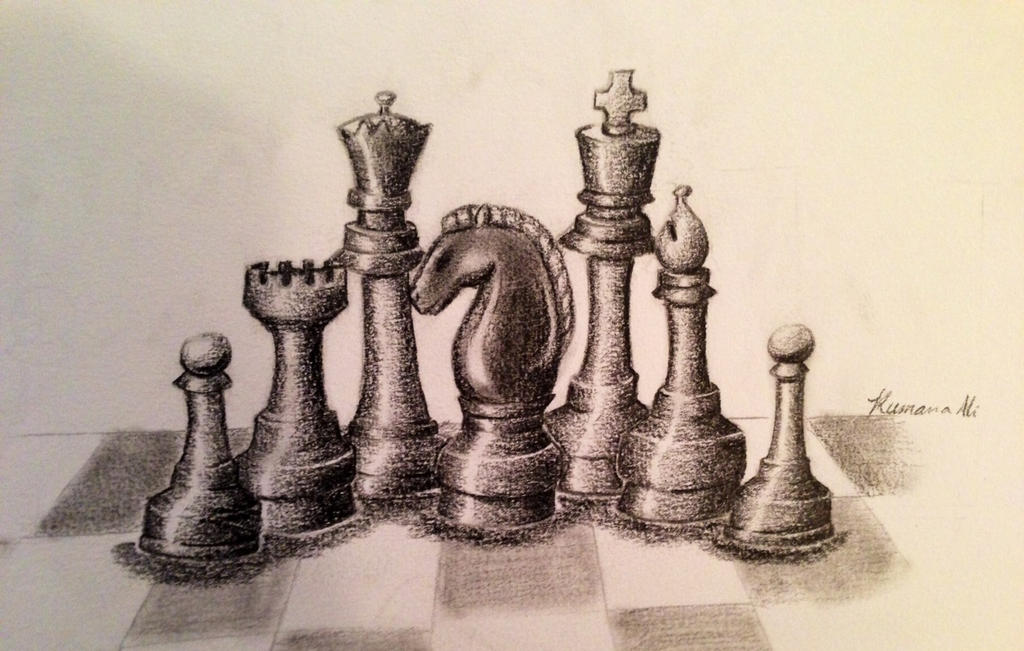 Chess Piece Still Life by SnailforPresident on DeviantArt