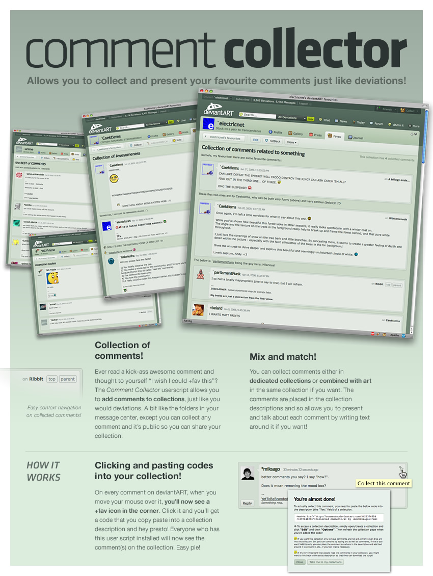 Comment Collector by electricnet