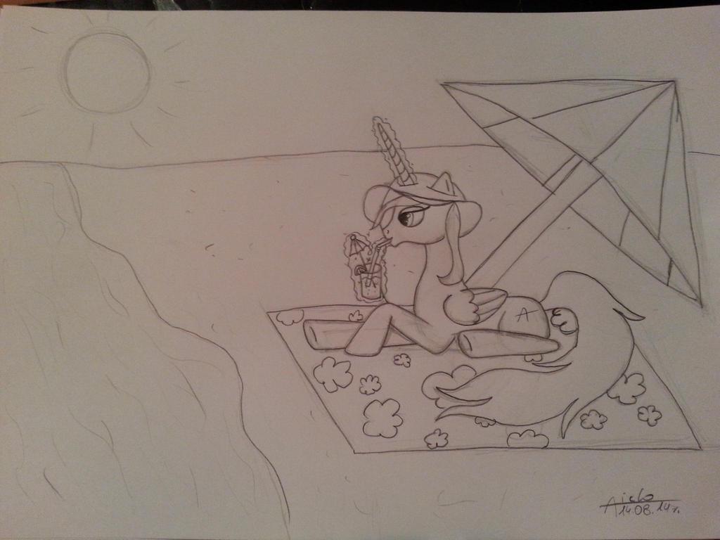 Sketch6: MLP Princess Aiclo in Summer by Aiclo