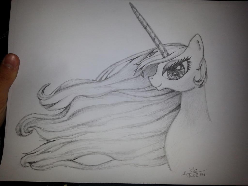 MLP Princess Celestia portret by Aiclo