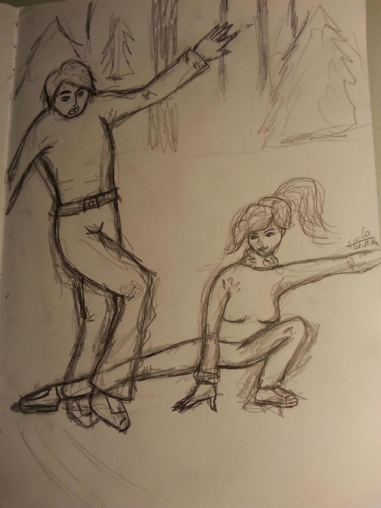Ilustracja: Embry vs Tina by Aiclo