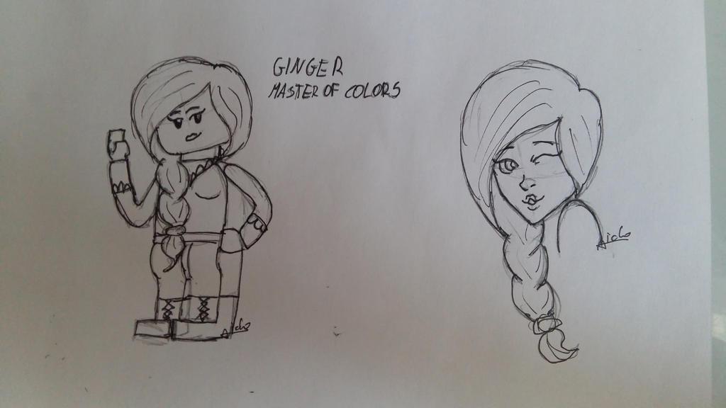 Ninjago OC Ginger Master of Colors by Aiclo