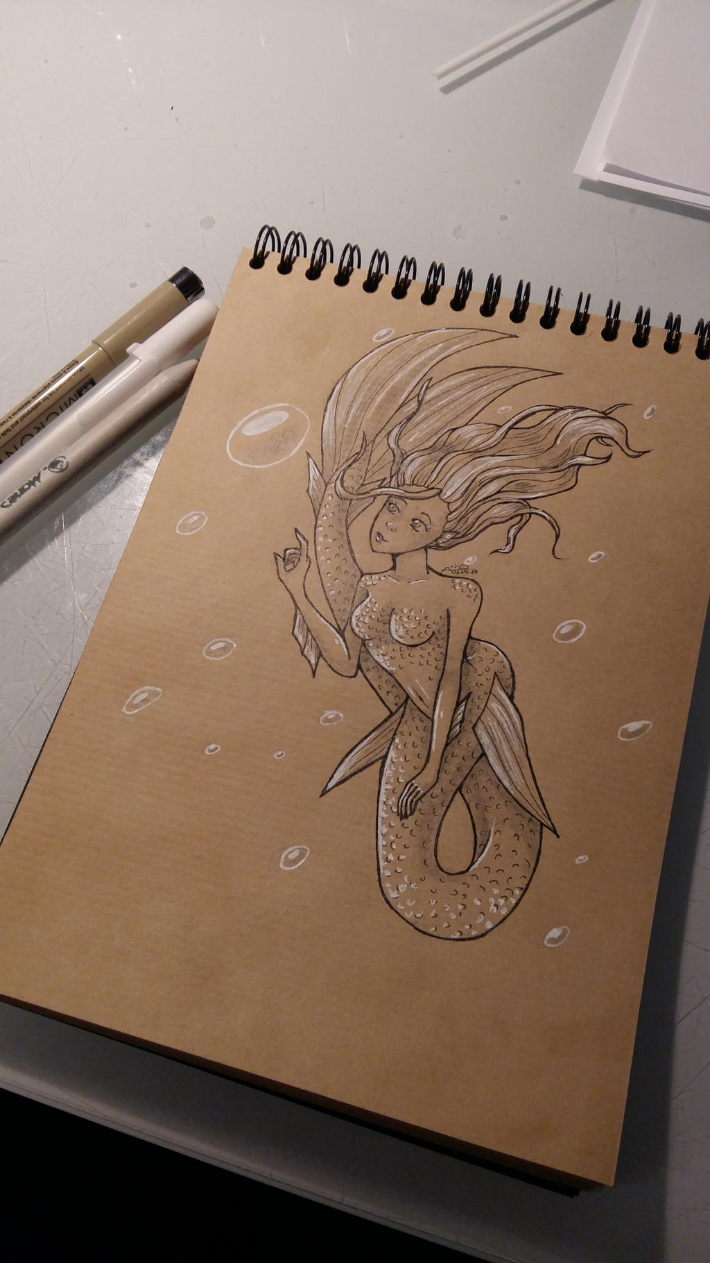 Mermaid with bubbles by Aiclo