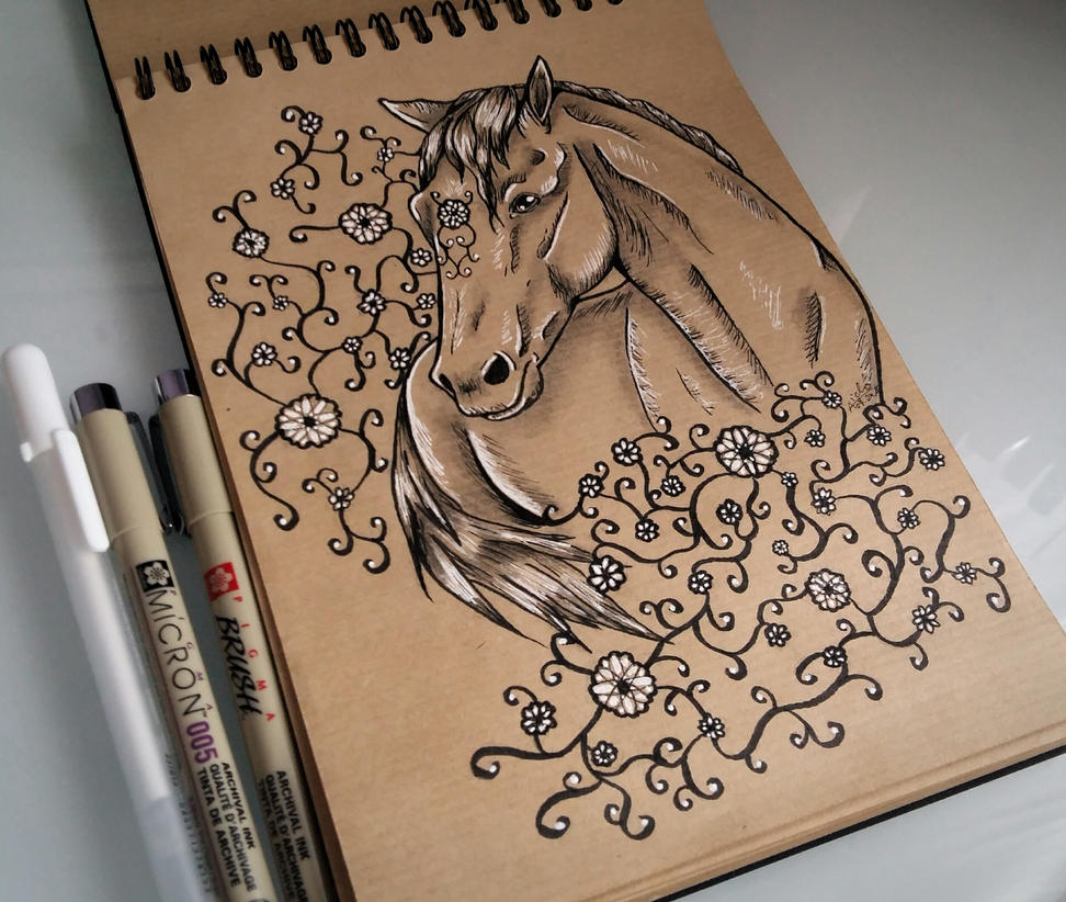 Flower horse by Aiclo