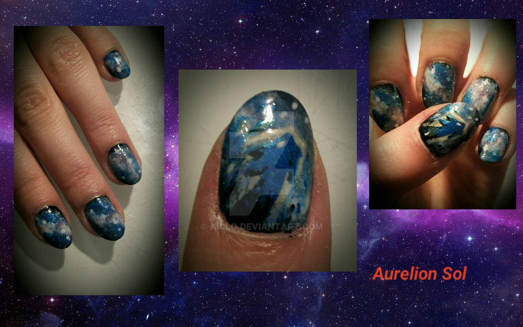 Nails Art - Aurelion Sol LOL  by Aiclo