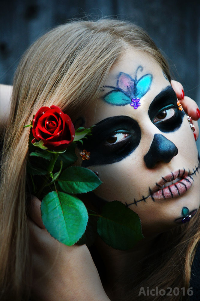 Flower Skull by Aiclo