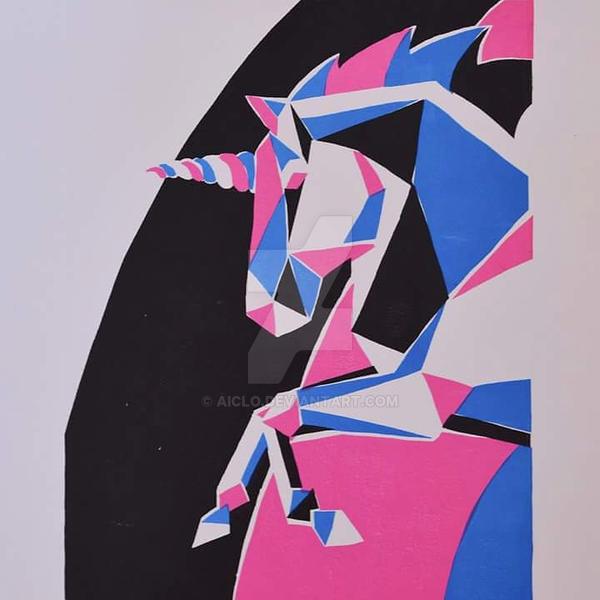 Unicorn [linoryt, maska] by Aiclo
