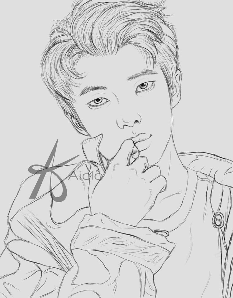 BTS RM Lineart by Aiclo