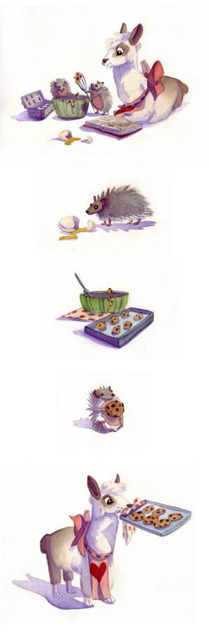 Alpacas Baking Cookies