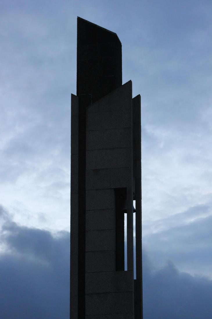 Bell Tower in Morning Sky by Oddball210