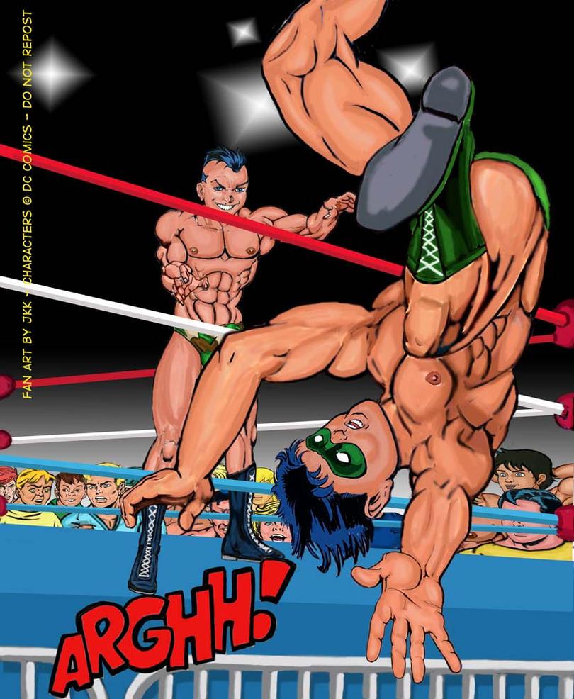 Jungle vs school wrestling 8