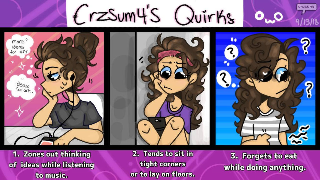 Crzsum4 Artist Quirks by Crzsum4