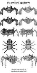Steampunk Spider Final Design by Neon2005