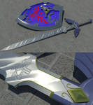 LoZ: Mas. Sword+Hylian Shield