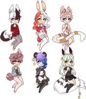 .:Kemonomimi Adopts:. Auction [closed] by Caiote