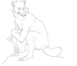 Werewolf character by plaidsneaker101