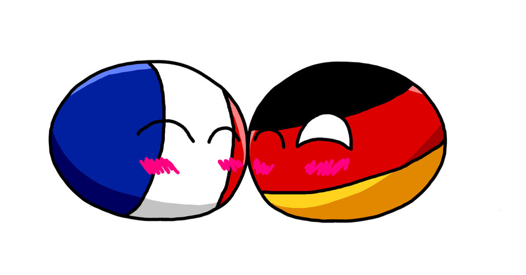 Country Ball Germany X France By Monstabronygermerica On Deviantart