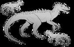 P2U Theropod Base Pack