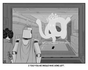 INKTOBER 22: Ghost - Return of the Noodleman