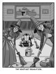 INKTOBER 12: Slippery - Sir Goober on Ice...