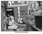 INKTOBER 14: Armor - Armed to the teeth...