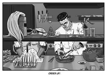 INKTOBER 22: Chef - It's pronounced Frunkensteen
