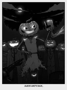 INKTOBER 30: Ominous - Smashing pumpkins...