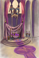 Throne room sketch by KatLouhio