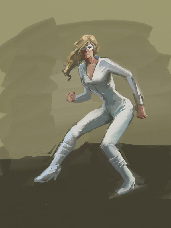 Superherogirl on iPad by KatLouhio