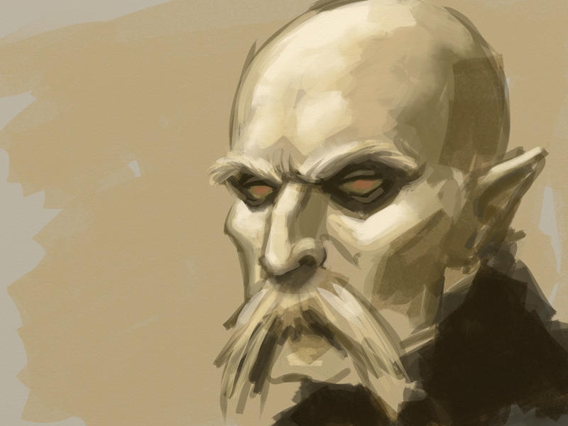 Dracula sketch on iPad by KatLouhio