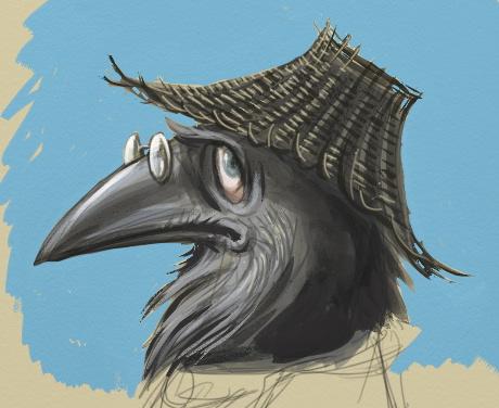 Sketch of Old Mr Crow by KatLouhio