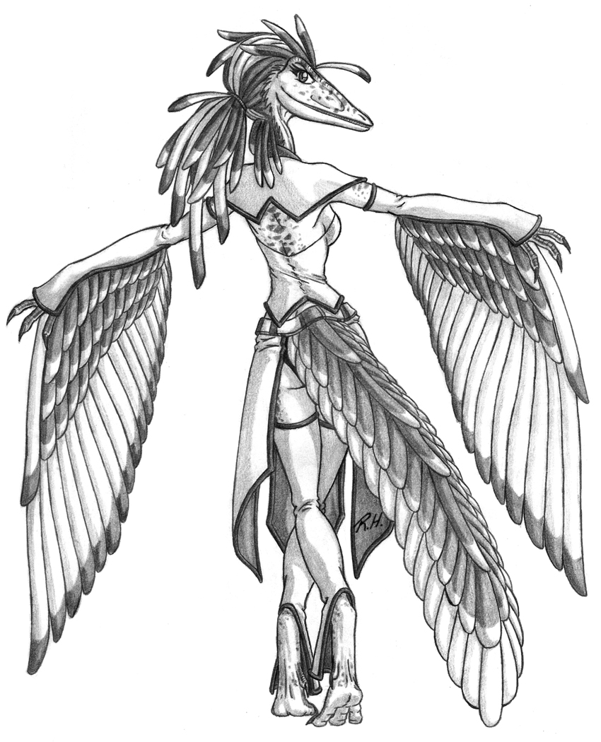 Anthrosaurs-Fem Archaopteryx by Predaguy