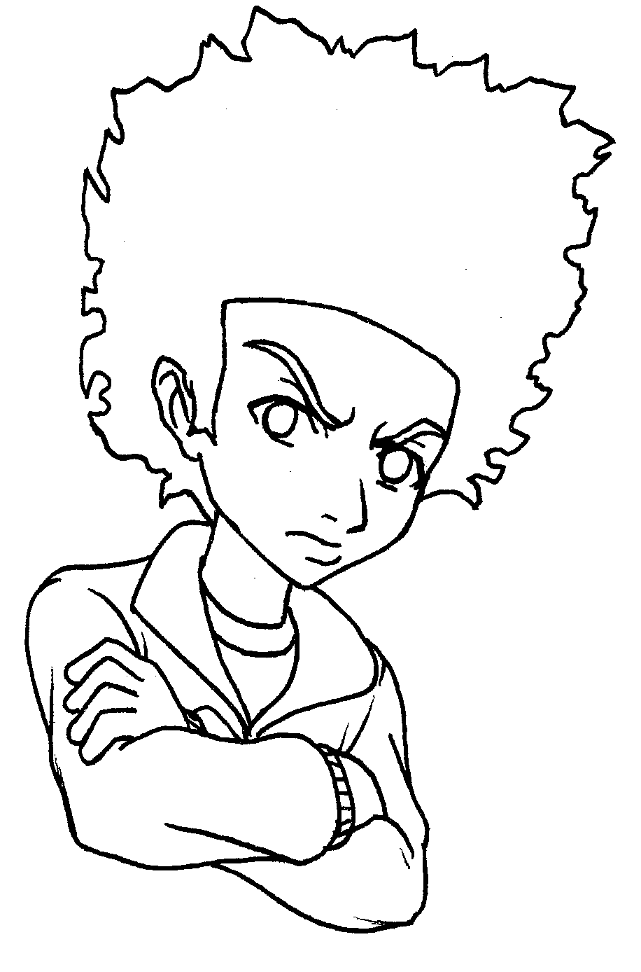 How To Draw Huey Boondocks