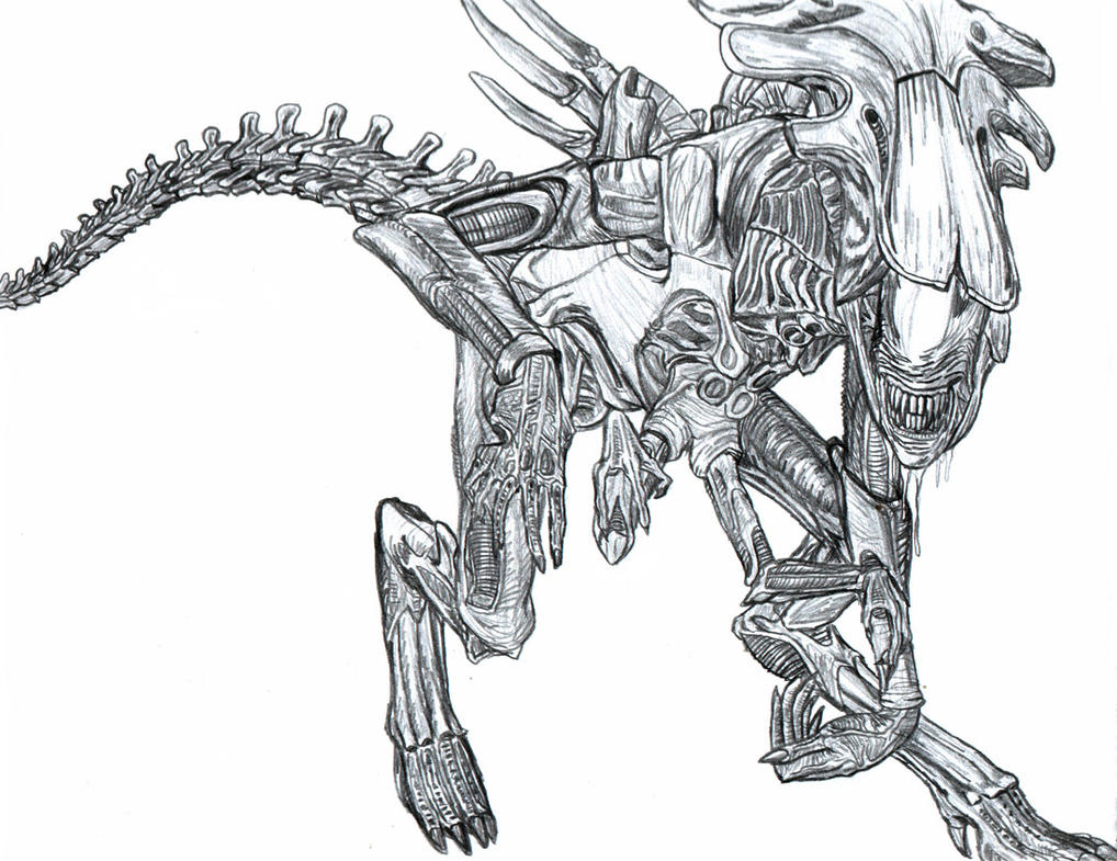 Xenomorph rogue car interior design for Xenomorph coloring pages