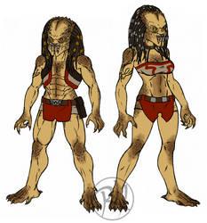 Yautja - Yan - Female/Male Comparison by Predaguy